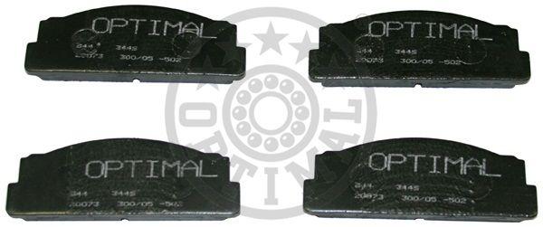 Kit de plaquettes de frein, frein à disque - OPTIMAL - 3446