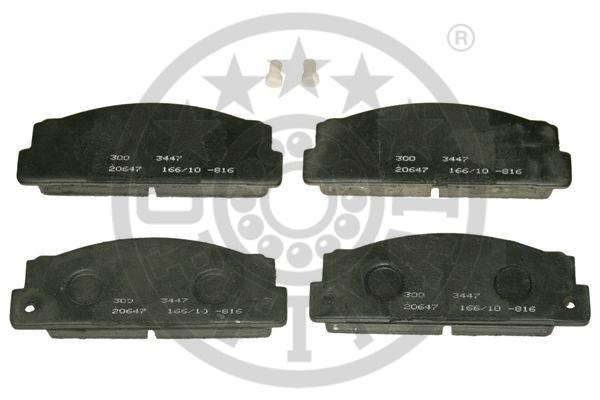 Kit de plaquettes de frein, frein à disque - OPTIMAL - 3447