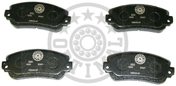 Kit de plaquettes de frein, frein à disque - OPTIMAL - 3500