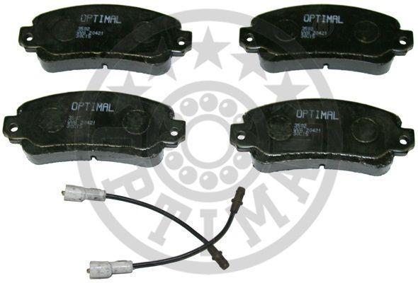 Kit de plaquettes de frein, frein à disque - OPTIMAL - 3502