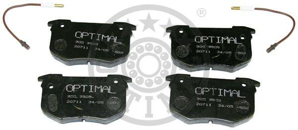 Kit de plaquettes de frein, frein à disque - OPTIMAL - 3505
