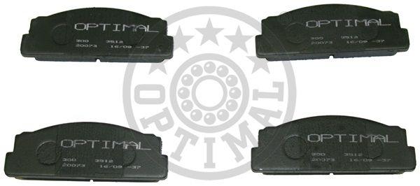 Kit de plaquettes de frein, frein à disque - OPTIMAL - 3512