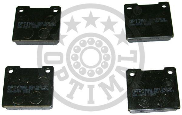 Kit de plaquettes de frein, frein à disque - OPTIMAL - 5150