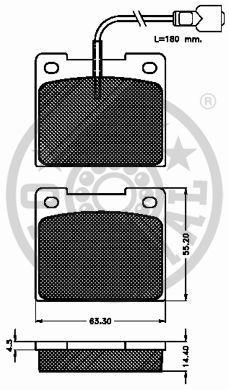 Kit de plaquettes de frein, frein à disque - OPTIMAL - 5151