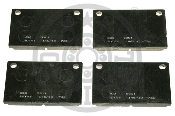 Kit de plaquettes de frein, frein à disque - OPTIMAL - 5301