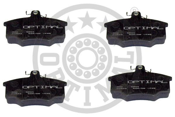 Kit de plaquettes de frein, frein à disque - OPTIMAL - 5904