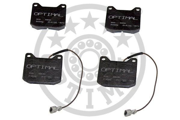 Kit de plaquettes de frein, frein à disque - OPTIMAL - 5906