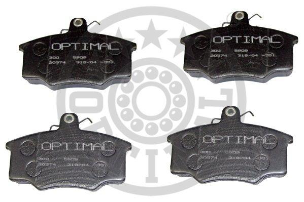 Kit de plaquettes de frein, frein à disque - OPTIMAL - 5909