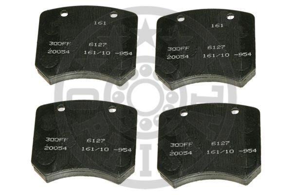 Kit de plaquettes de frein, frein à disque - OPTIMAL - 6127