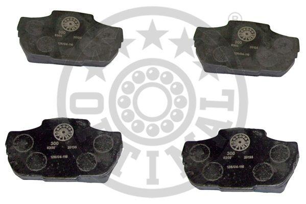 Kit de plaquettes de frein, frein à disque - OPTIMAL - 6350