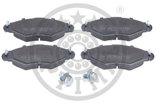 Kit de plaquettes de frein, frein à disque - OPTIMAL - 64320