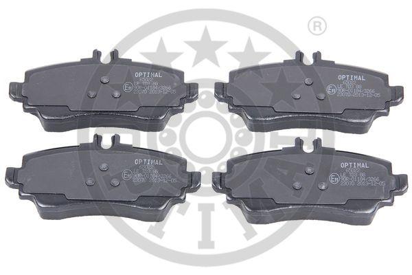 Kit de plaquettes de frein, frein à disque - OPTIMAL - 65022
