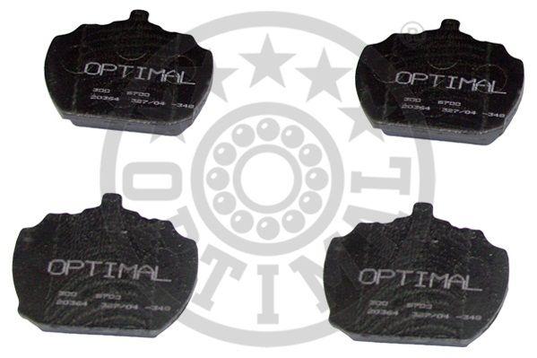 Kit de plaquettes de frein, frein à disque - OPTIMAL - 6700