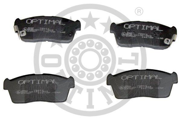 Kit de plaquettes de frein, frein à disque - OPTIMAL - 72411