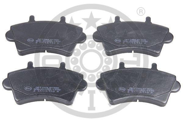 Kit de plaquettes de frein, frein à disque - OPTIMAL - 81900