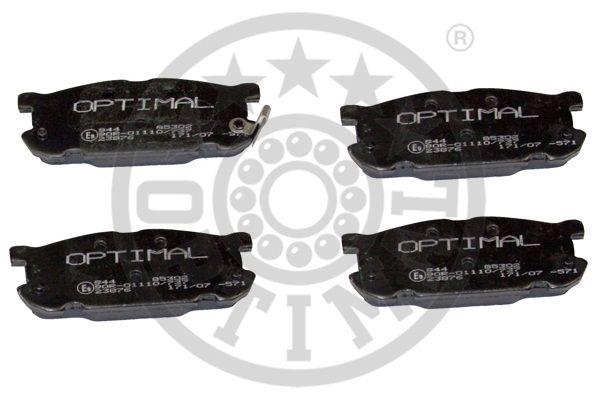 Kit de plaquettes de frein, frein à disque - OPTIMAL - 85302