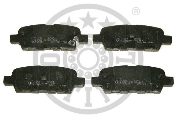 Kit de plaquettes de frein, frein à disque - OPTIMAL - 87601