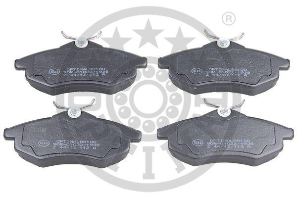 Kit de plaquettes de frein, frein à disque - OPTIMAL - 88100