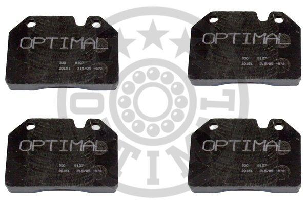 Kit de plaquettes de frein, frein à disque - OPTIMAL - 9107