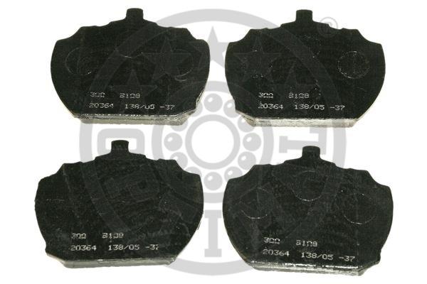 Kit de plaquettes de frein, frein à disque - OPTIMAL - 9108
