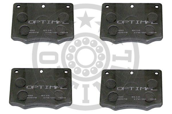 Kit de plaquettes de frein, frein à disque - OPTIMAL - 9110