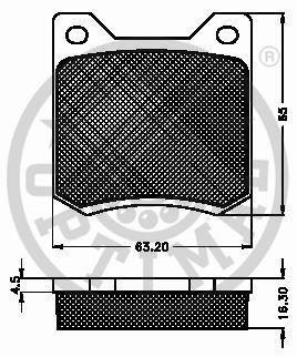 Kit de plaquettes de frein, frein à disque - OPTIMAL - 9112