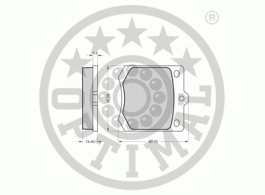 Kit de plaquettes de frein, frein à disque - OPTIMAL - 9133