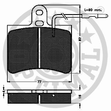 Kit de plaquettes de frein, frein à disque - OPTIMAL - 9135