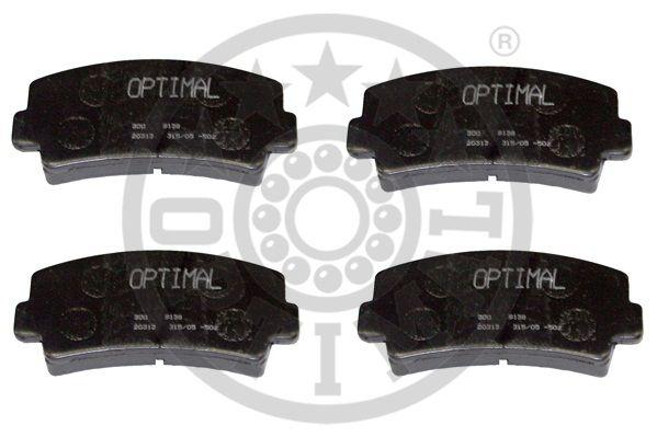 Kit de plaquettes de frein, frein à disque - OPTIMAL - 9138