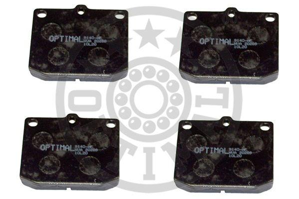 Kit de plaquettes de frein, frein à disque - OPTIMAL - 9140