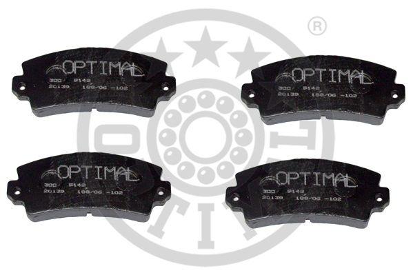 Kit de plaquettes de frein, frein à disque - OPTIMAL - 9142