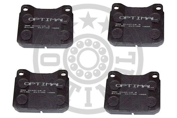 Kit de plaquettes de frein, frein à disque - OPTIMAL - 9143