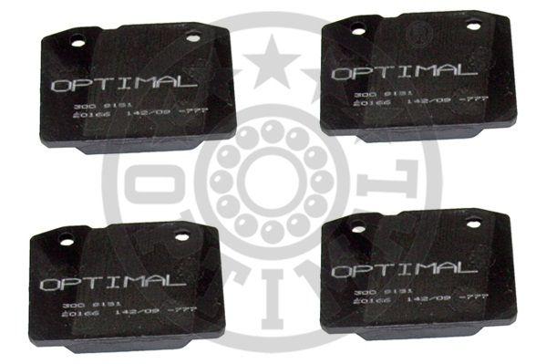 Kit de plaquettes de frein, frein à disque - OPTIMAL - 9151