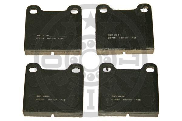 Kit de plaquettes de frein, frein à disque - OPTIMAL - 9154