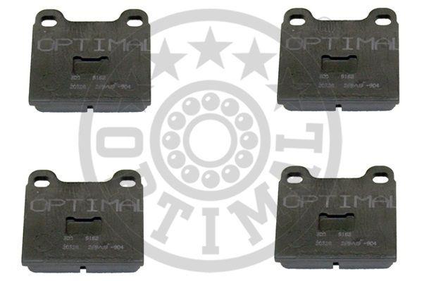 Kit de plaquettes de frein, frein à disque - OPTIMAL - 9162