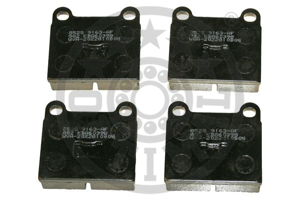 Kit de plaquettes de frein, frein à disque - OPTIMAL - 9163