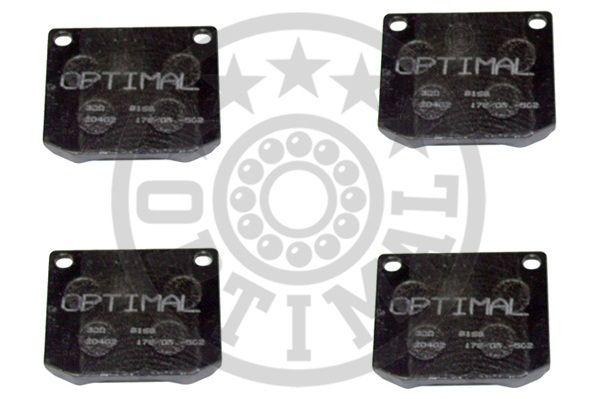 Kit de plaquettes de frein, frein à disque - OPTIMAL - 9168