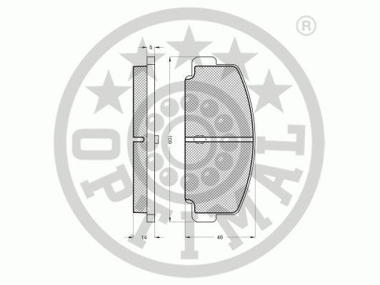 Kit de plaquettes de frein, frein à disque - OPTIMAL - 9172