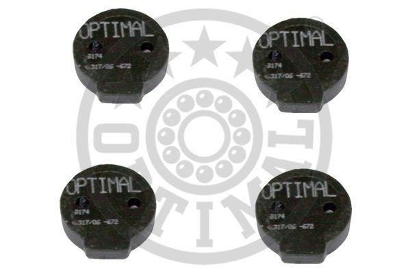 Kit de plaquettes de frein, frein à disque - OPTIMAL - 9174