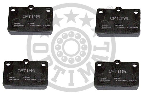 Kit de plaquettes de frein, frein à disque - OPTIMAL - 9180