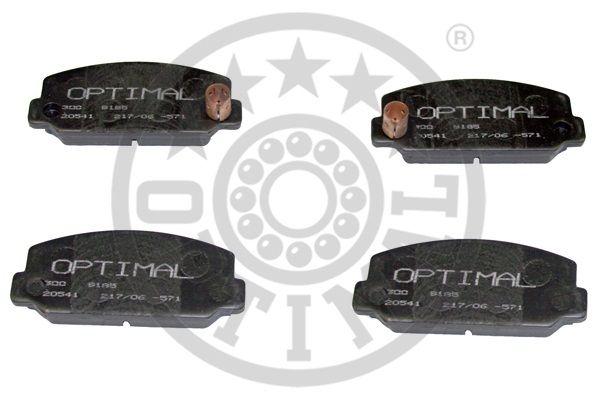 Kit de plaquettes de frein, frein à disque - OPTIMAL - 9185