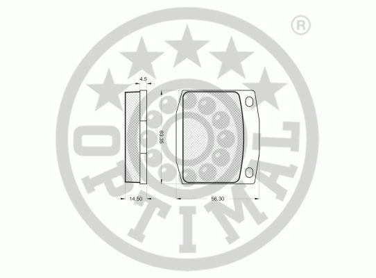 Kit de plaquettes de frein, frein à disque - OPTIMAL - 9188