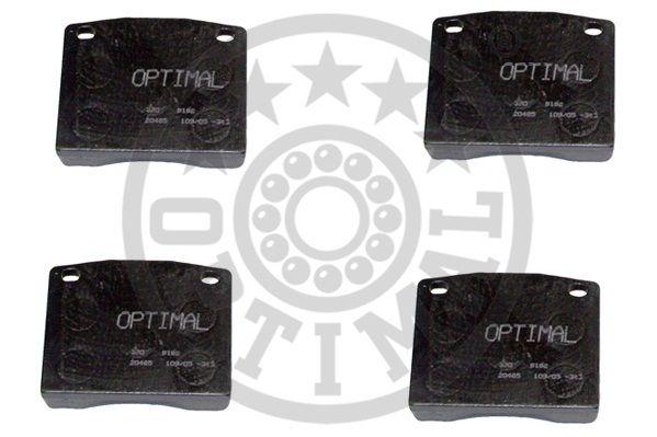Kit de plaquettes de frein, frein à disque - OPTIMAL - 9192