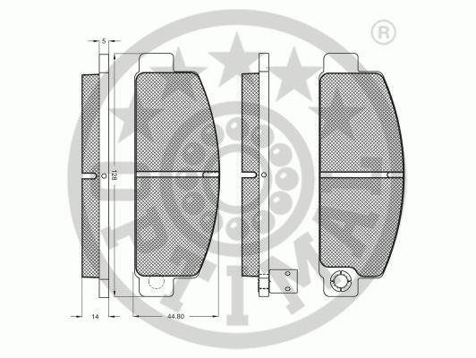 Kit de plaquettes de frein, frein à disque - OPTIMAL - 9198