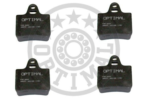 Kit de plaquettes de frein, frein à disque - OPTIMAL - 9204