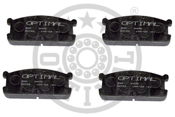 Kit de plaquettes de frein, frein à disque - OPTIMAL - 9209