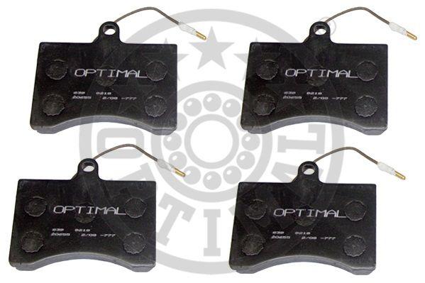 Kit de plaquettes de frein, frein à disque - OPTIMAL - 9218