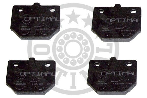 Kit de plaquettes de frein, frein à disque - OPTIMAL - 9221