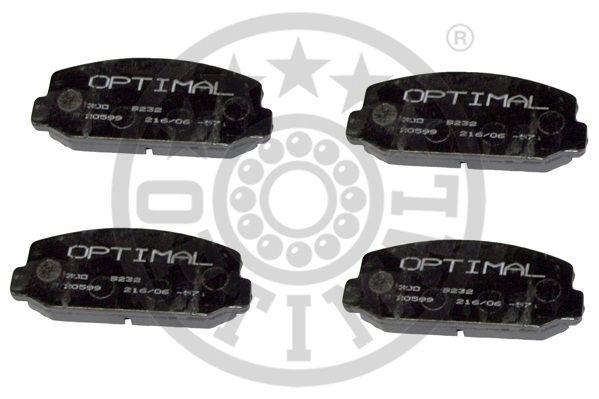 Kit de plaquettes de frein, frein à disque - OPTIMAL - 9232