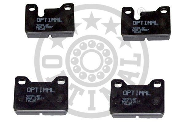 Kit de plaquettes de frein, frein à disque - OPTIMAL - 9233